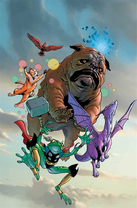 thor and the dogs books throg character comic vine