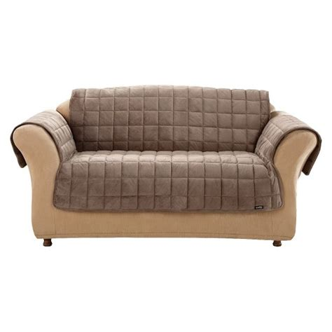 Quilted Recliner Covers Deluxe Quilted Furniture Friend Loveseat Cover Chocolate Sure Fit Target
