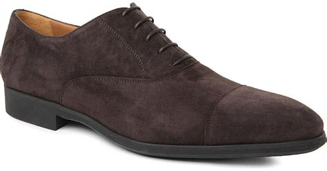 oxford suede shoes stemar suede oxford shoes in brown for lyst