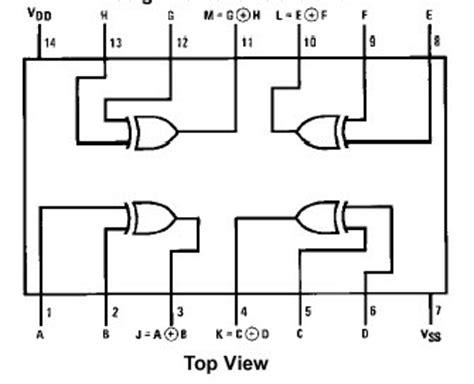 4070 cmos xor integrated circuit stepper motor controller using ic 4027 koleksi skema rangkaian artikel elektronika