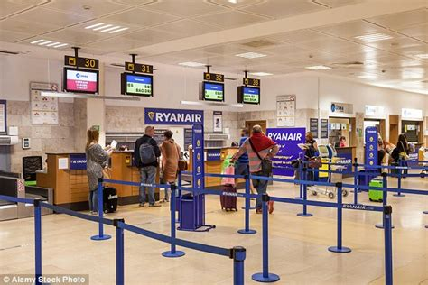 baggage laid out at airline luggage counter after flight ryanair employee s claim that her tight skirt caused her
