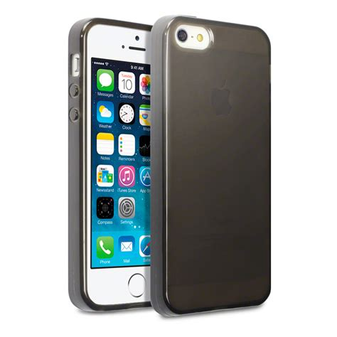 Slim Rubber Iphone 5 5s Se slim rubber gel cover for new iphone 5 5s se smoke