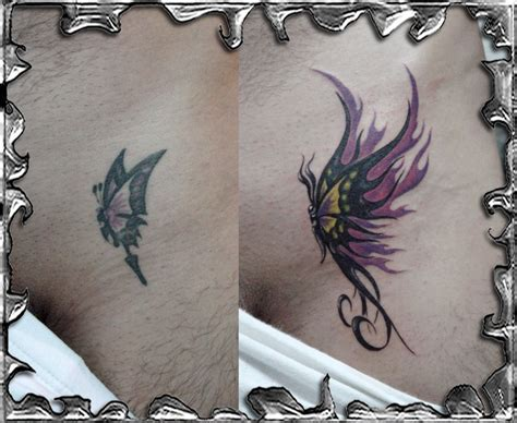 tattoo nightmares butterfly cover up tattoo images by regina hubbard tattoos show