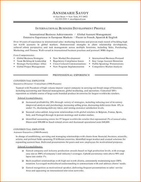 International Business Resume Sle by Motivation Letter For International Business 100 Images