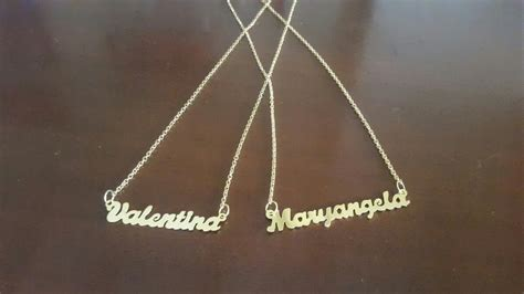 cadenas con nombre oro cadena con nombres personalizados orfebreria ba 241 o en oro