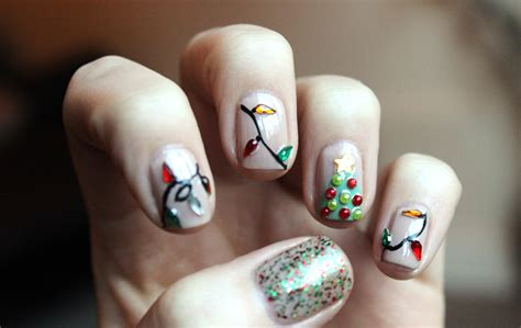String Nails - string of lights nail xameliax