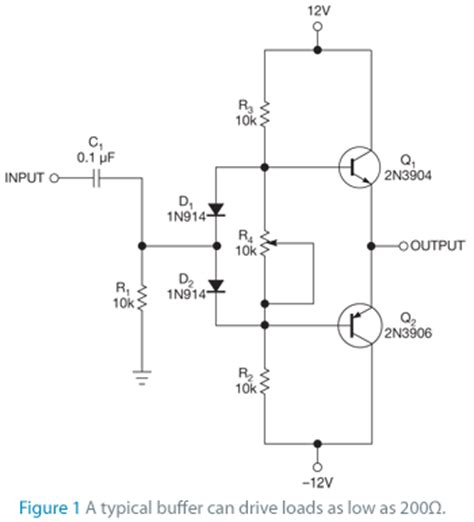 transistor buffer power lifier high speed buffer comprises discrete transistors edn
