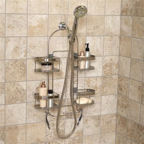 The Shower Caddy by Zenith Products Premium Expandable Shower Caddy For