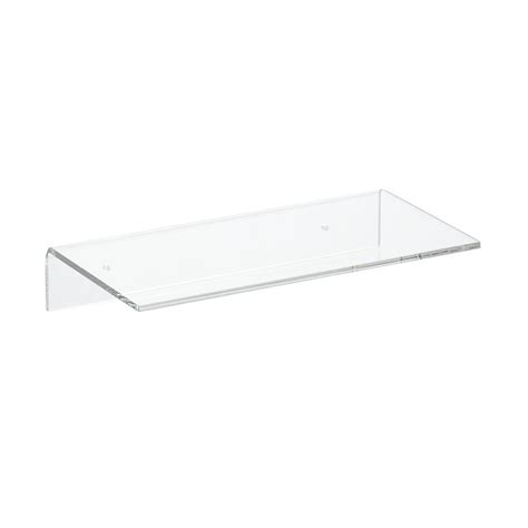 Wall Shelves For Books single acrylic wall shelves the container store