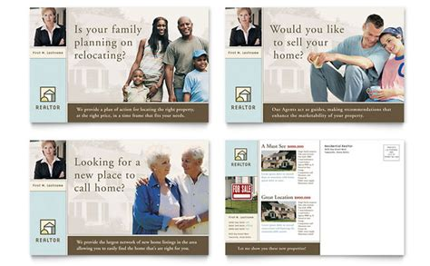 property management postcards templates house for sale real estate postcard template design