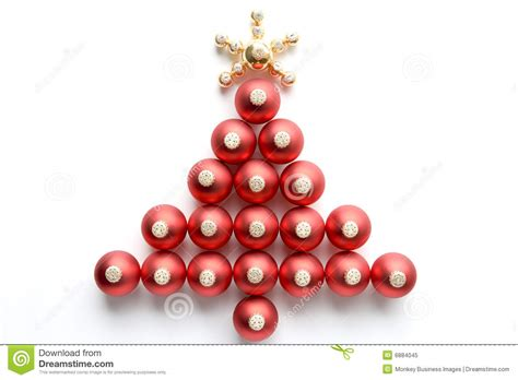 christmas tree made from baubles stock image image 6884045