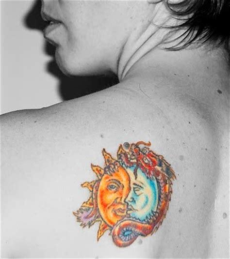 Moon And Sun Tattoo Designs Info Half Moon Half Sun Tattoos
