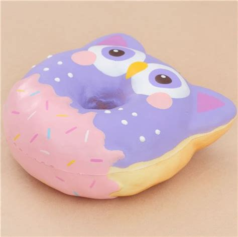 Squishy Hello Jamur 1 puni maru purple owl donut squishy by puni maru puni maru squishy squishies kawaii shop