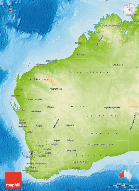 Western Australia Search Detailed Map Western Australia Images