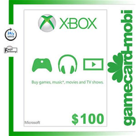 Microsoft Xbox 360 Gift Card - xbox one 100 gift card microsoft xbox 360 live 100 usd better than 20 25 50 usd ebay
