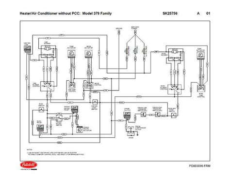 peterbilt air conditioning diagram peterbilt 379 family hvac wiring diagrams with without