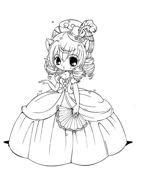 little girl princess coloring page anime princess coloring pages 575521