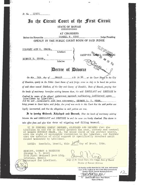 Divorce Decree Record I Forged Obama S Certificate Identity Near Discovery Northern Colorado Gazette