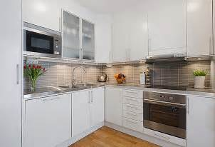 Modern Kitchen With White Cabinets Modern White Apartment Interior Decorating Designofhome S