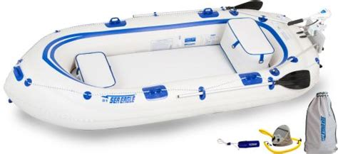 aqua marina classic advanced fishing boat with electric motor t 18 sea eagle se9 4 person inflatable boats package prices
