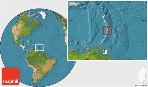 lucia location on world map satellite location map of lucia highlighted continent