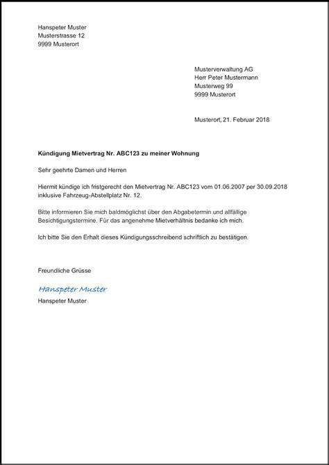 wohnung kündigungsschreiben kostenlos k 252 ndigungsschreiben arbeitnehmer word vorlage