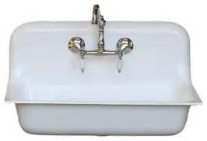 Porcelain Farmhouse Kitchen Sink Consigned 30 Quot High Back 1932 Cast Iron Porcelain Farmhouse