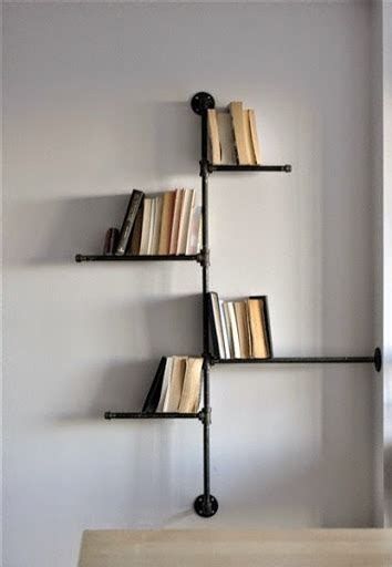 desain lu dari pipa desain model rak buku minimalis praktis unik dan simple