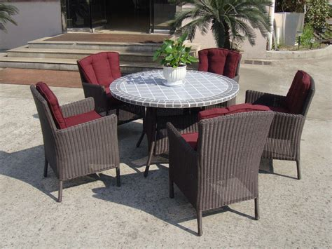 plastic rattan garden dining sets strong brown dining