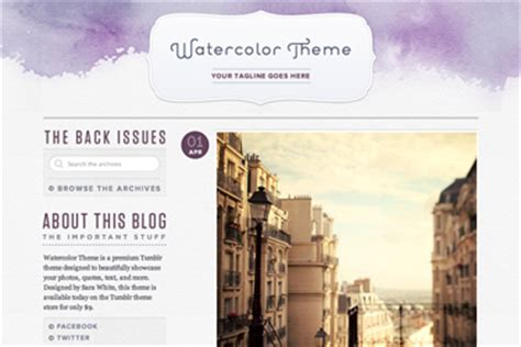 tumblr themes free cherrybam watercolor theme guide