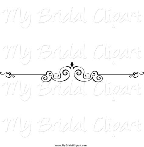 Wedding Border Line Design by Black And White Dove Border Design Element Models