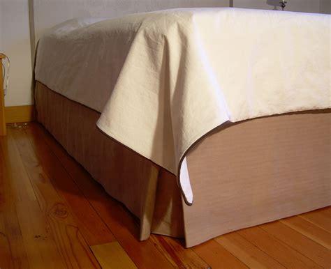 tan bed skirt tan hemp bedskirt nikkidesigns