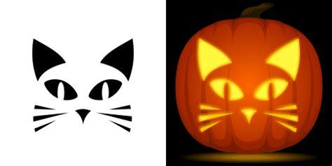 easy cat pumpkin carving stencil   pattern