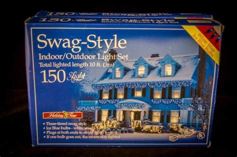 holiday time swag style christmas lights 150 3 tier style