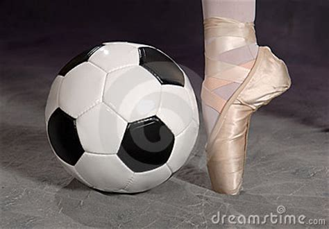 soccer football  ballet shoe royalty  stock