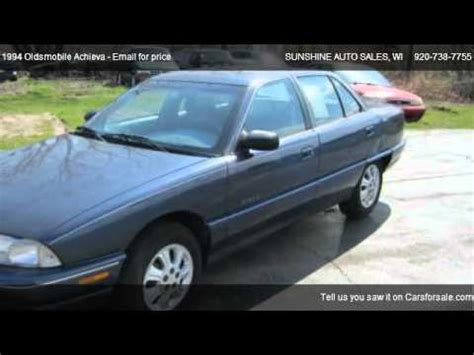 how things work cars 1994 oldsmobile achieva free book repair manuals 1994 oldsmobile achieva s for sale in menasha wi 54952 youtube