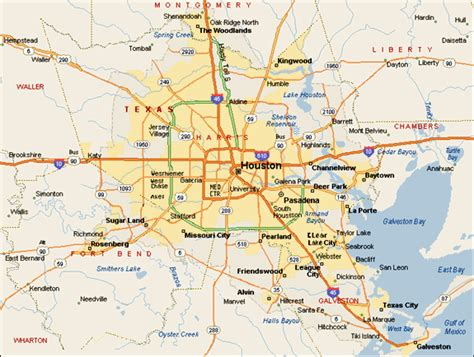 houston area map cities houston business connections magazine 169 a 2013 leadership