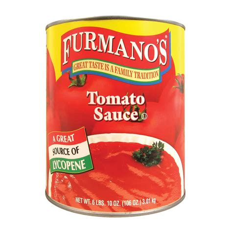 Shelf Canned Tomatoes by Furmano S 10 Can Tomato Sauce 6