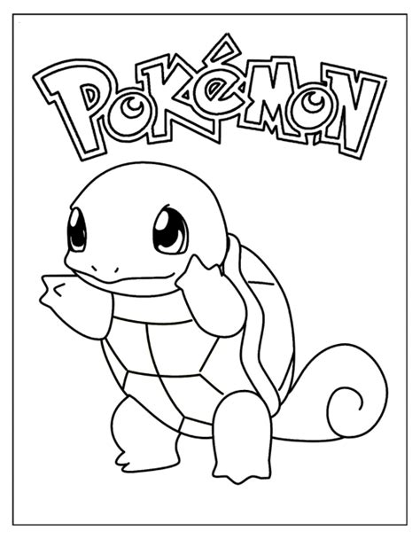 turtle pokemon coloring page squirtle coloring pages for pokemon fans coloring pages