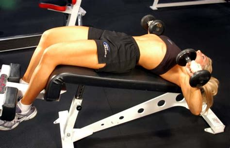 decline bench press without bench decline dumbbell bench press pictures video guide and tips