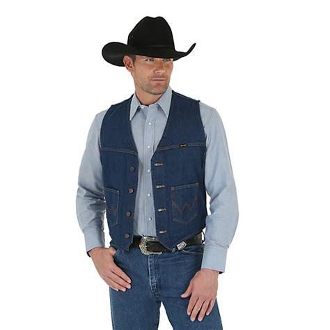 Denim Vest wrangler 174 unlined denim vest prewashed mens jackets and