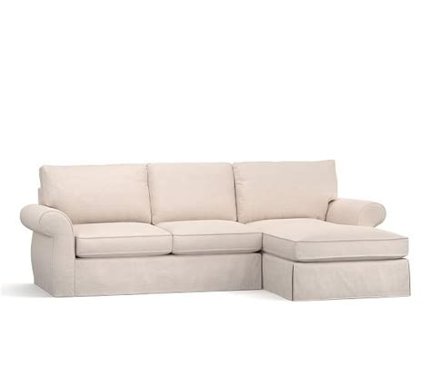 Pearce Slipcovered Sofa With Chaise Sectional Pottery Barn Slipcovered Sofa With Chaise