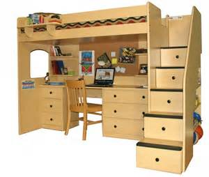 advantages of wood loft bed with desk stylish home