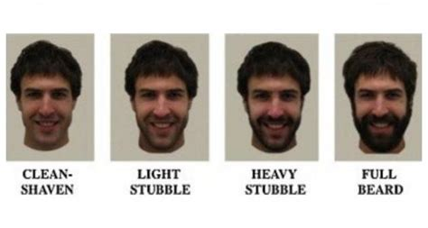 mens hair growing inbetween stege survey reveals men with hairy faces are more attractive