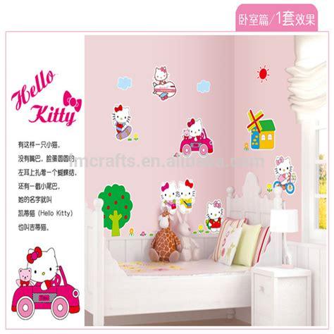 Wall Sticker Kartun Anak kucing hello kartun stiker dinding kamar anak anak