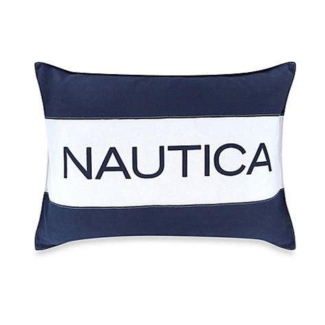 nautica bed pillows nautica 174 mainsail breakfast throw pillow in navy bed