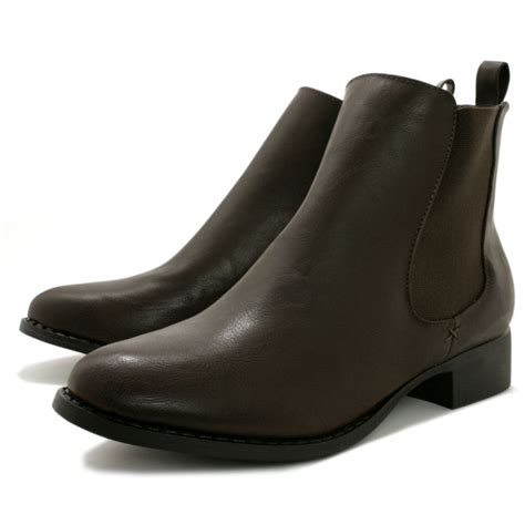 buy vesper block heel chelsea ankle boots leather style