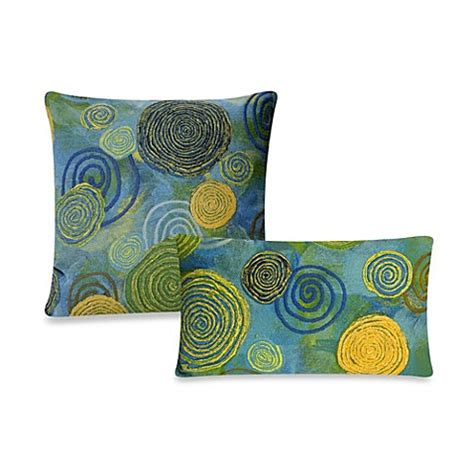 bed bath and beyond outdoor pillows liora manne outdoor throw pillow collection in graffiti