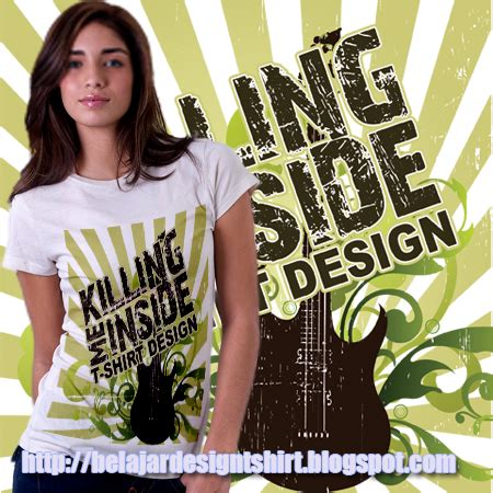 Killing Me Inside T Shirt by Koleksi Psd Desain Kaos Killing Me Inside T