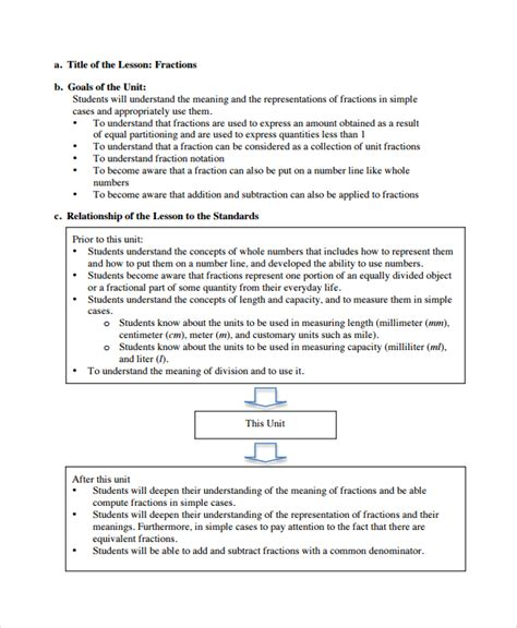 Mathematics Lesson Plan Template sle math lesson plan template 9 free documents in pdf word